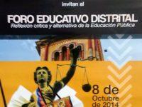 Foro Educativo Distrital Cartagena