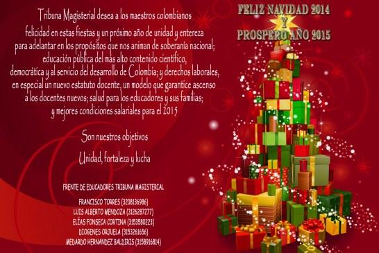 Tribuna Magisterial desea a los maestros colombianos felicidad en estas fiestas