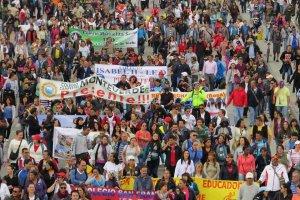 La Organización Colombiana de Estudiantes, OCE, apoya el paro nacional indefinido del Magisterio