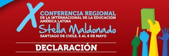 Declaración de la XConferencia Regional dela Internacional de la Educación para América Latina frente al acuerdointernacionaldecomerciodeservicios ylacomercializacióndelaeducación(TISA)