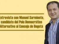 Entrevista con Manuel Sarmiento, candidato del Polo Democrático Alternativo al Concejo de Bogotá