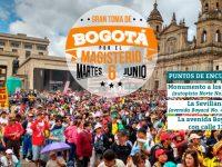 TODOS A LA GRANDIOSA TOMA DE BOGOTÁ, MARTES 6 DE JUNIO