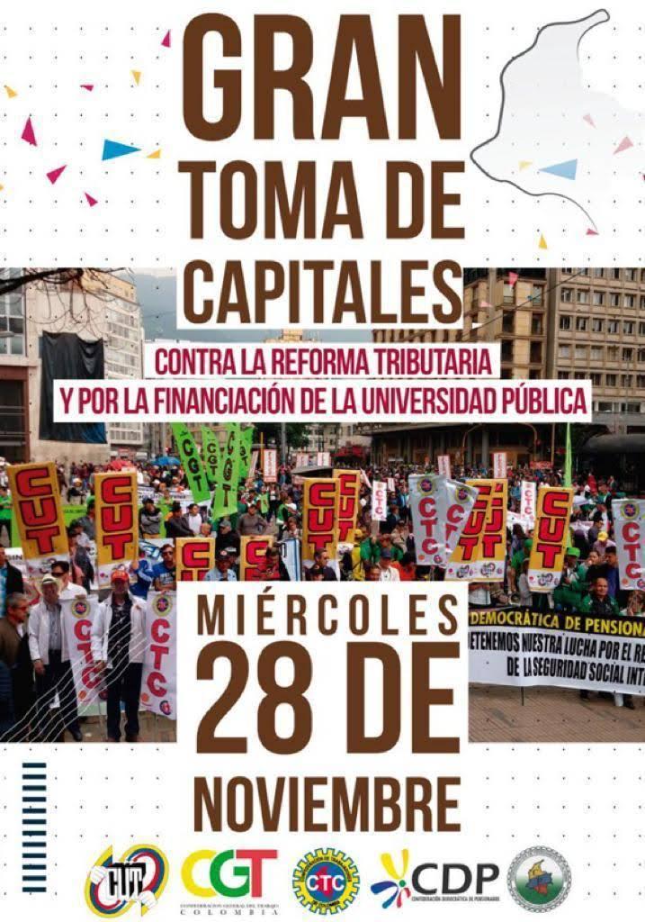 ¡TODOS A LAS CALLES CONTRA LA REFORMA TRIBUTARIA DE IVÁN DUQUE!